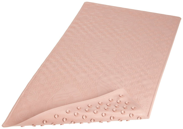 Carnation Home Fashions 100-Percent Latex Rubber Anti-Slip Bath Tub Mat, 16 by 28-Inch, Rose - Fresh Colony