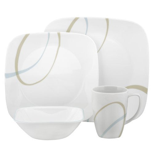 Corelle Square 16-Piece Set, Sand and Sky - Fresh Colony
