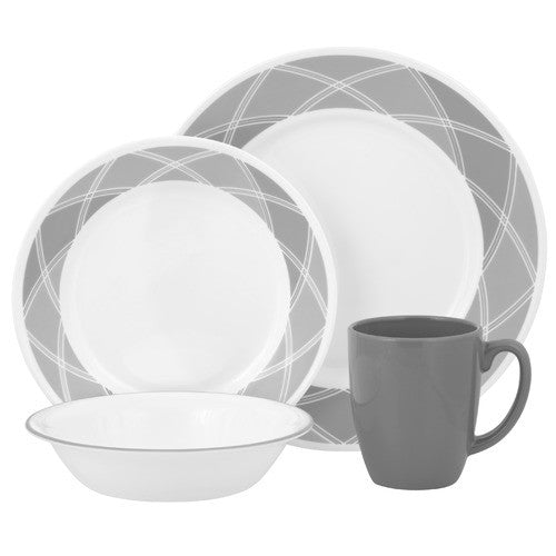 Corelle Vive 16-Piece Stoneware Mug, Savvy Shades Grey - Fresh Colony