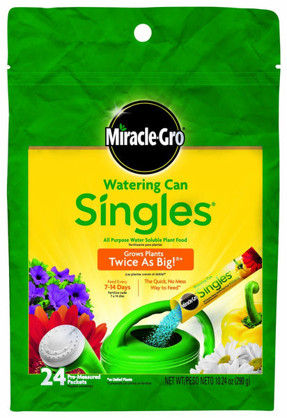 Miracle-Gro Watering Can Singles - Includes 24 Pre-Measured Packets (10.24 ounces)  of Miracle-Gro All Purpose Plant Food (Plant Fertilizer) - Fresh Colony