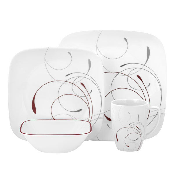 Corelle Square 16-Piece Dinnerware Set, Splendor, Service for 4 - Fresh Colony