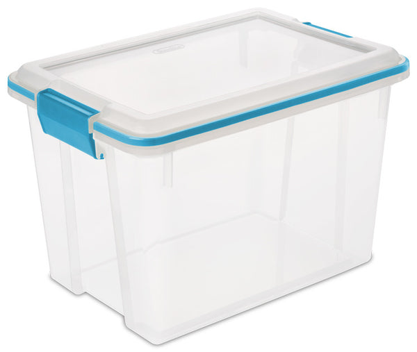 STERILITE 20 Quart Clear and Lime Gasket Box - Fresh Colony