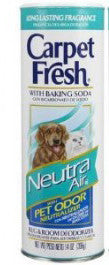 Carpet Fresh 279141 Rug and Room Deodorizer with Baking Soda, 14 oz. Neutra Air for Pets Fragrance - Fresh Colony