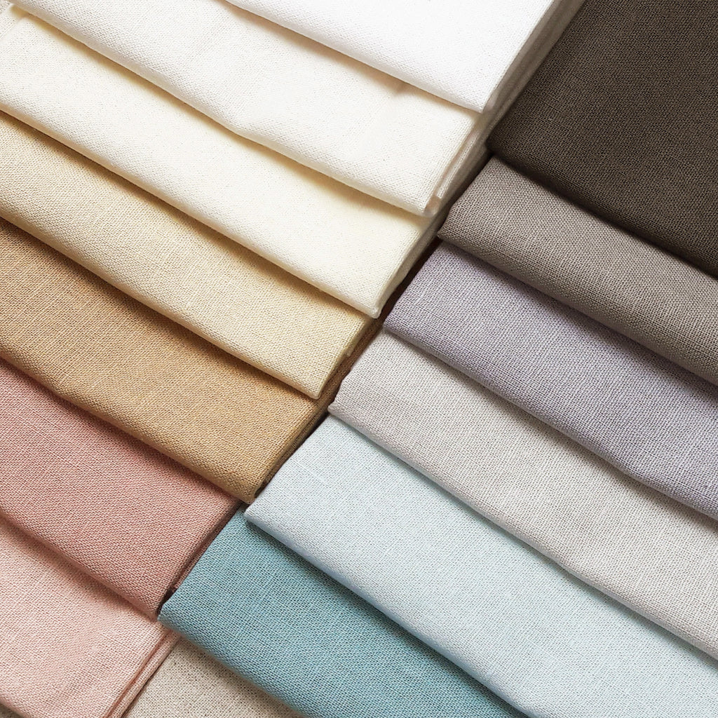 Essex Linen Fabric Pack ~ Pastel