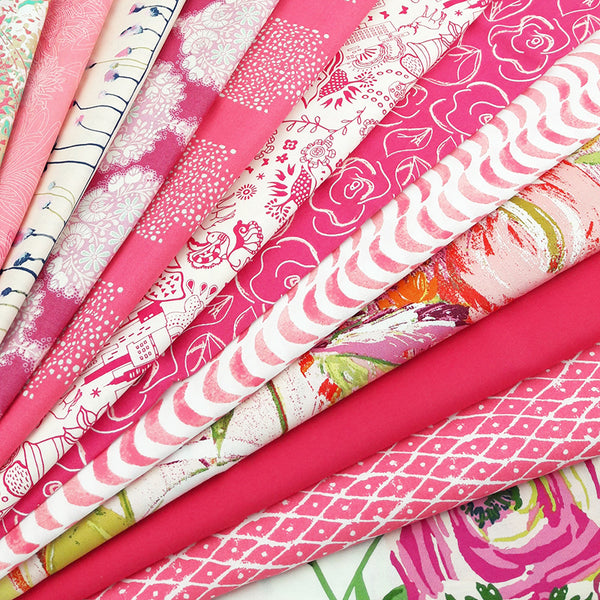 Flamingo Pink Fabric Pack ~ SCRAPS