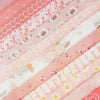 Peachy Pink Fabric Pack ~ SCRAPS