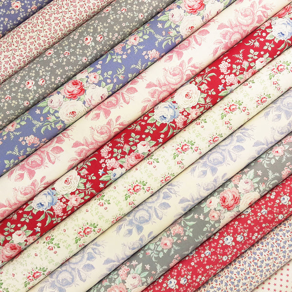 Tilda Old Rose Fabric Pack ~ SCRAPS