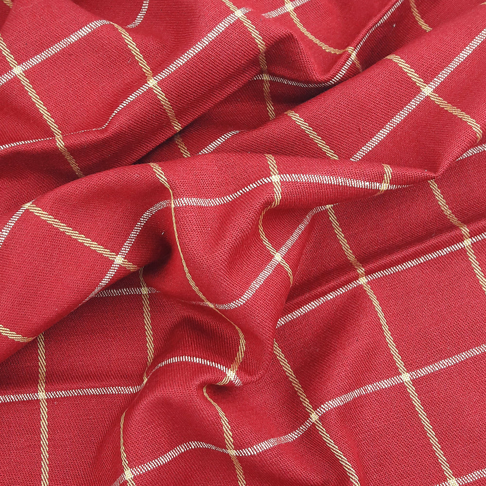 Malabar Check ~ Raspberry Red *Remnant*