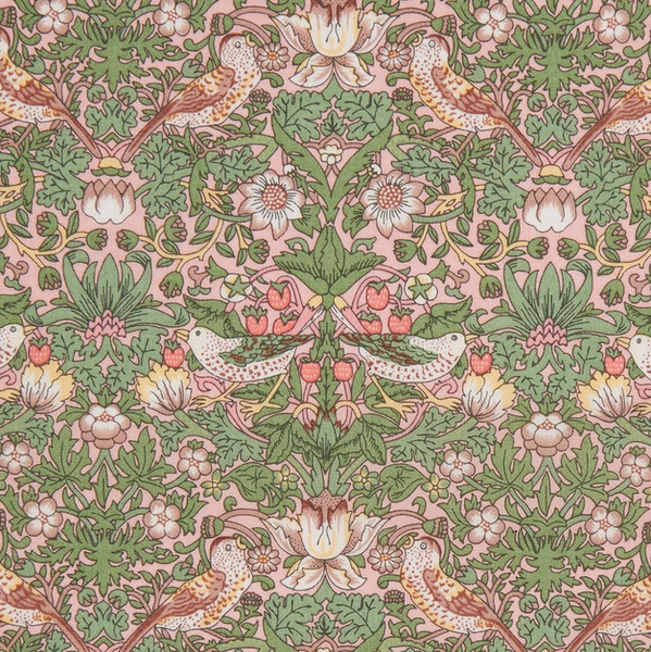 Liberty ~ Strawberry Thief Pink Green