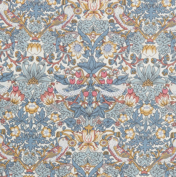 Liberty ~ Strawberry Thief Rust Blue