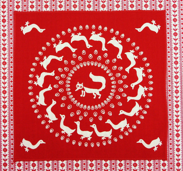 Fox Circle Hankie ~ Red