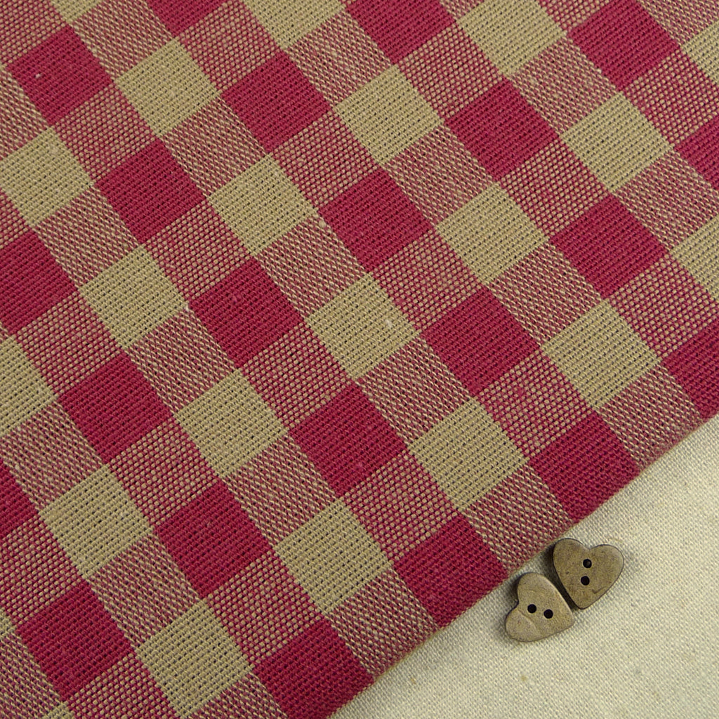 Emma Gingham ~ Raspberry *Remnant* - Billow Fabrics