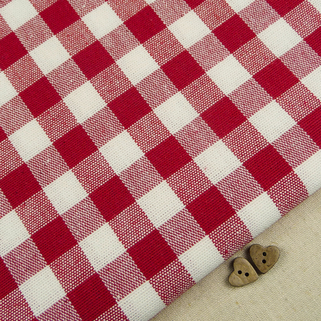 Emma Gingham ~ Scarlet Red *Remnant* - Billow Fabrics