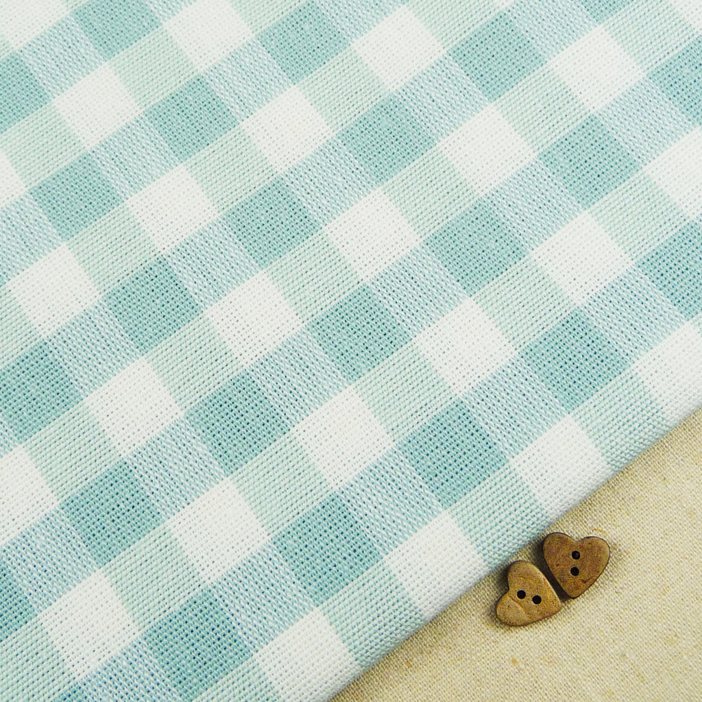 Emma Gingham ~ Duck Egg - Billow Fabrics