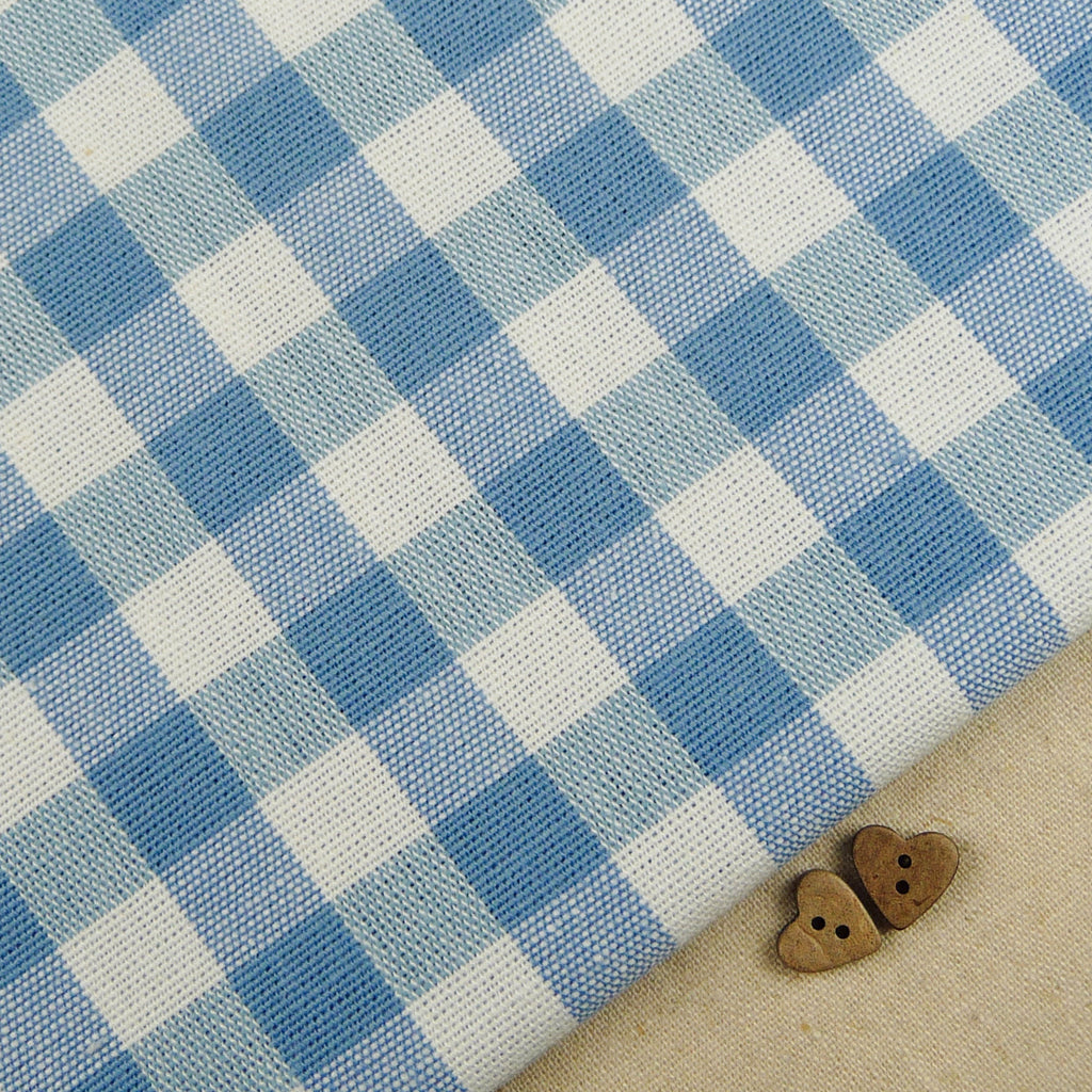 Emma Gingham ~ Chambray *remnant* - Billow Fabrics