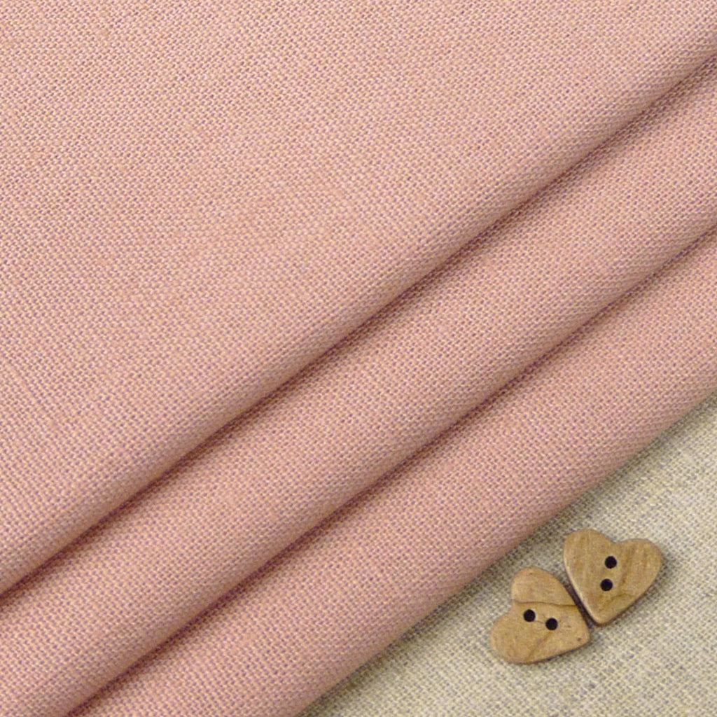 Robert Kaufman ~ Essex Dusty Rose - Billow Fabrics  - 1