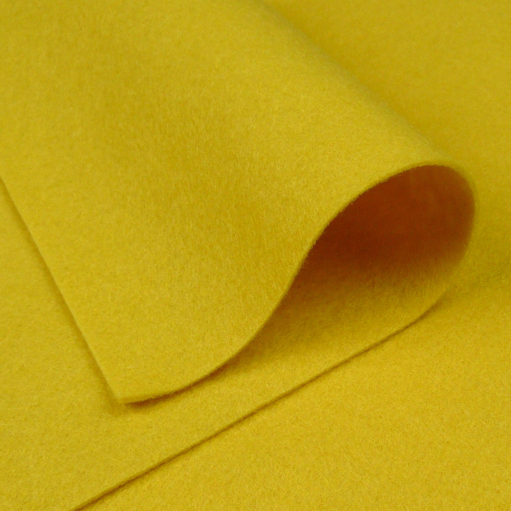 Woolfelt ~ Mellow Yellow - Billow Fabrics
