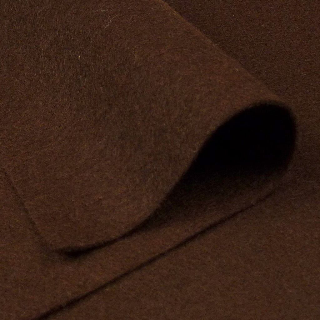 Woolfelt ~ Chocolate Brown - Billow Fabrics