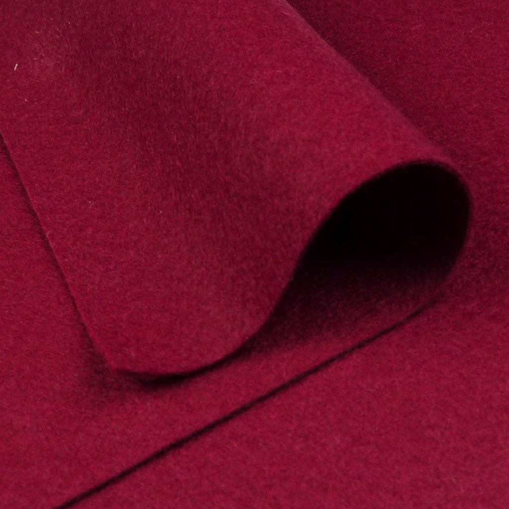 Woolfelt ~ Garnet Red - Billow Fabrics