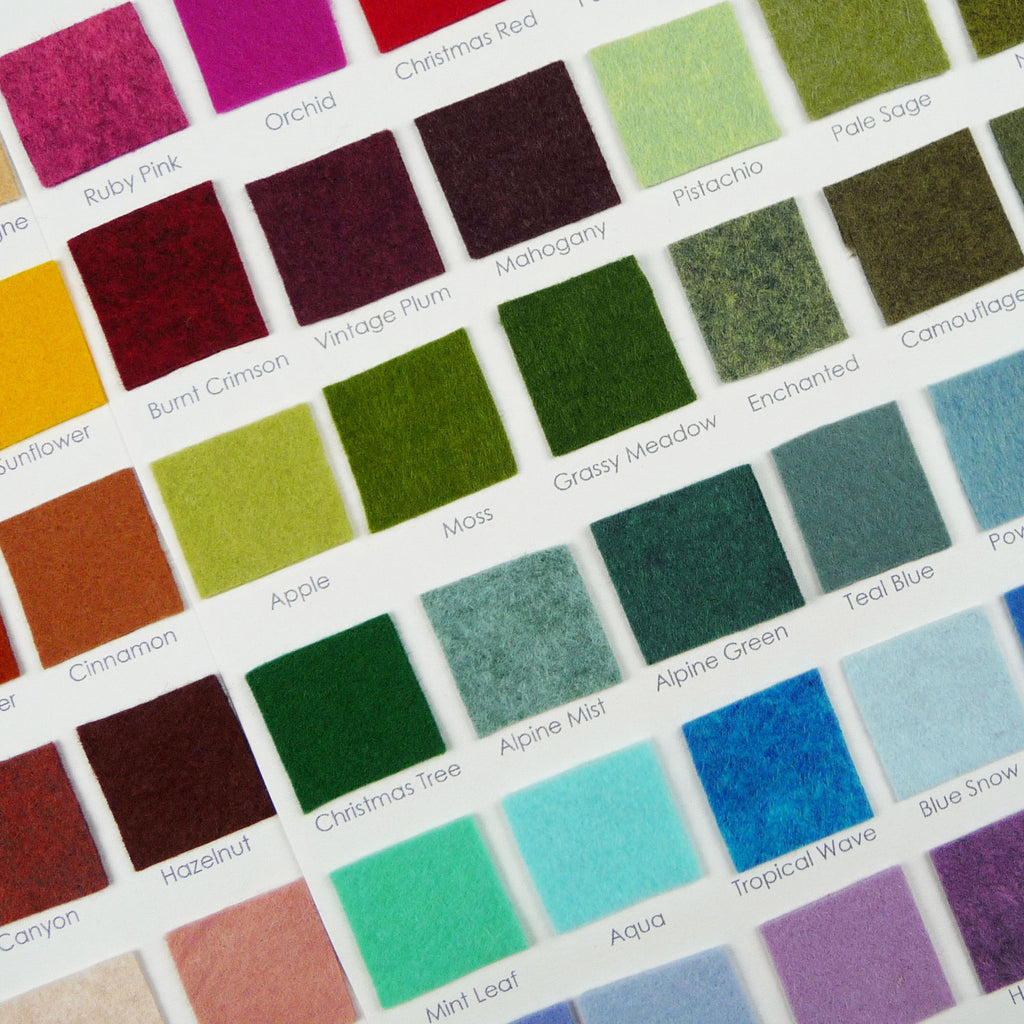 Woolfelt ~ Sample Cards - Billow Fabrics  - 1