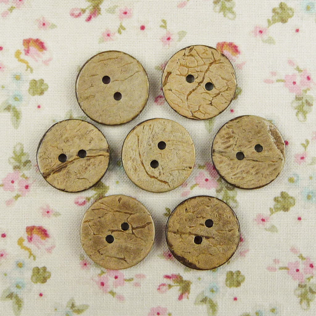 Coconut Round Buttons ~ 20mm - Billow Fabrics