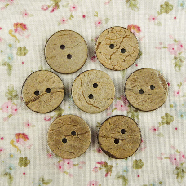 Coconut Round Buttons ~ 20mm