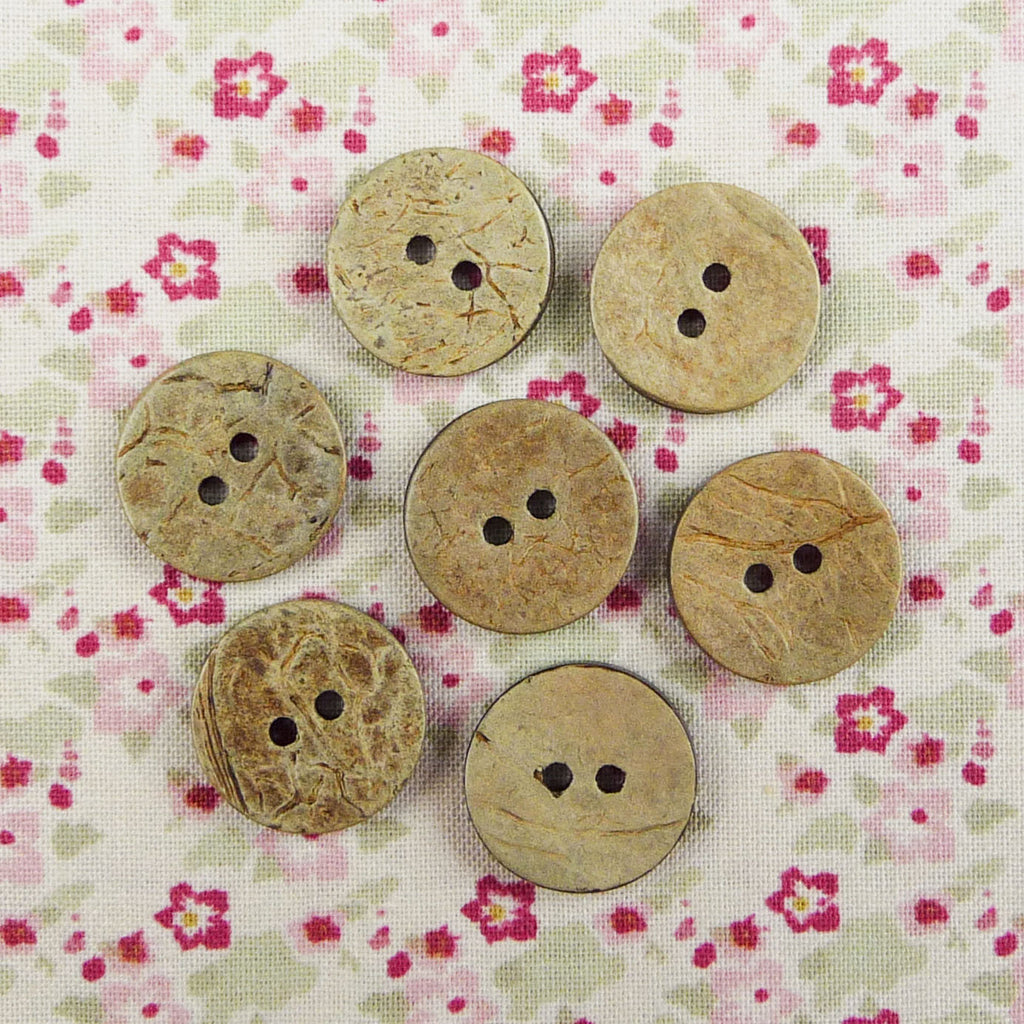 Coconut Round Buttons ~ 18mm - Billow Fabrics