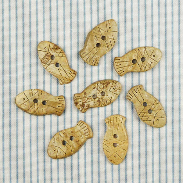 Coconut Fish Buttons ~ 20mm