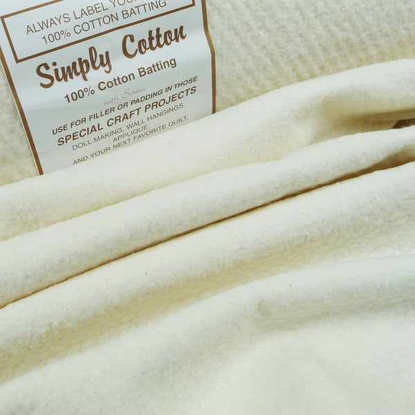 Simply 100% Cotton Wadding *Remnant*