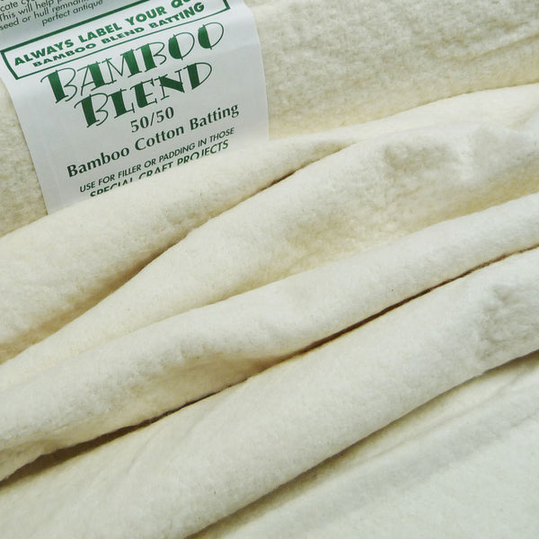 Bamboo 50% / Cotton 50% Wadding *Remnant*
