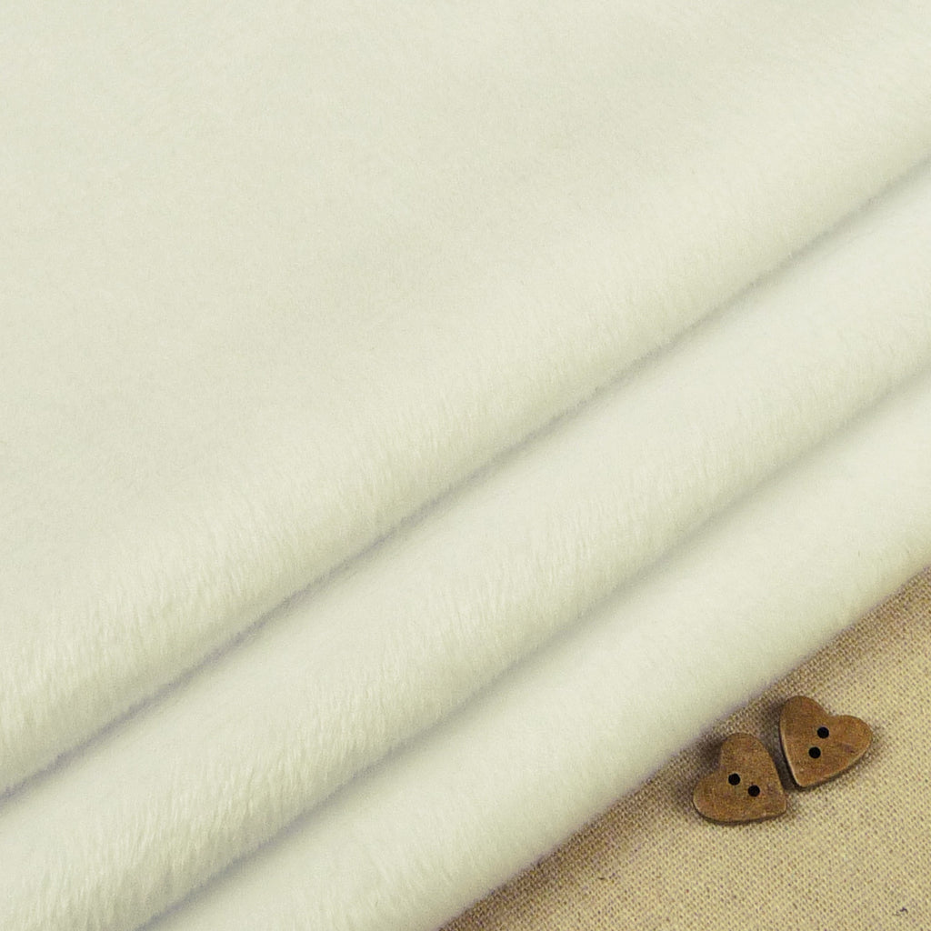Shannon ~ Smooth Cuddle 3 White *Remnant* - Billow Fabrics  - 1