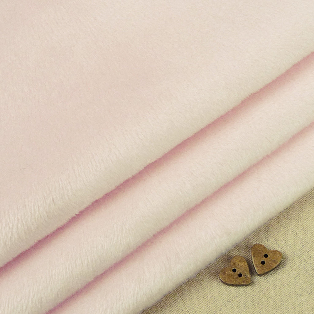 Shannon ~ Smooth Cuddle 3 Baby Pink *Remnant* - Billow Fabrics  - 1
