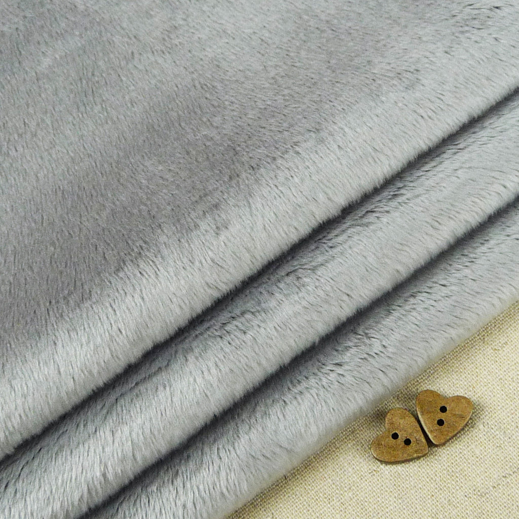 Shannon ~ Smooth Cuddle 3 Silver *Remnant* - Billow Fabrics  - 1