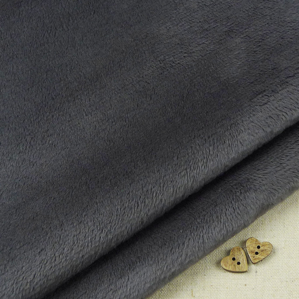 Shannon ~ Smooth Cuddle 3 Ash Grey *remnant* - Billow Fabrics  - 1