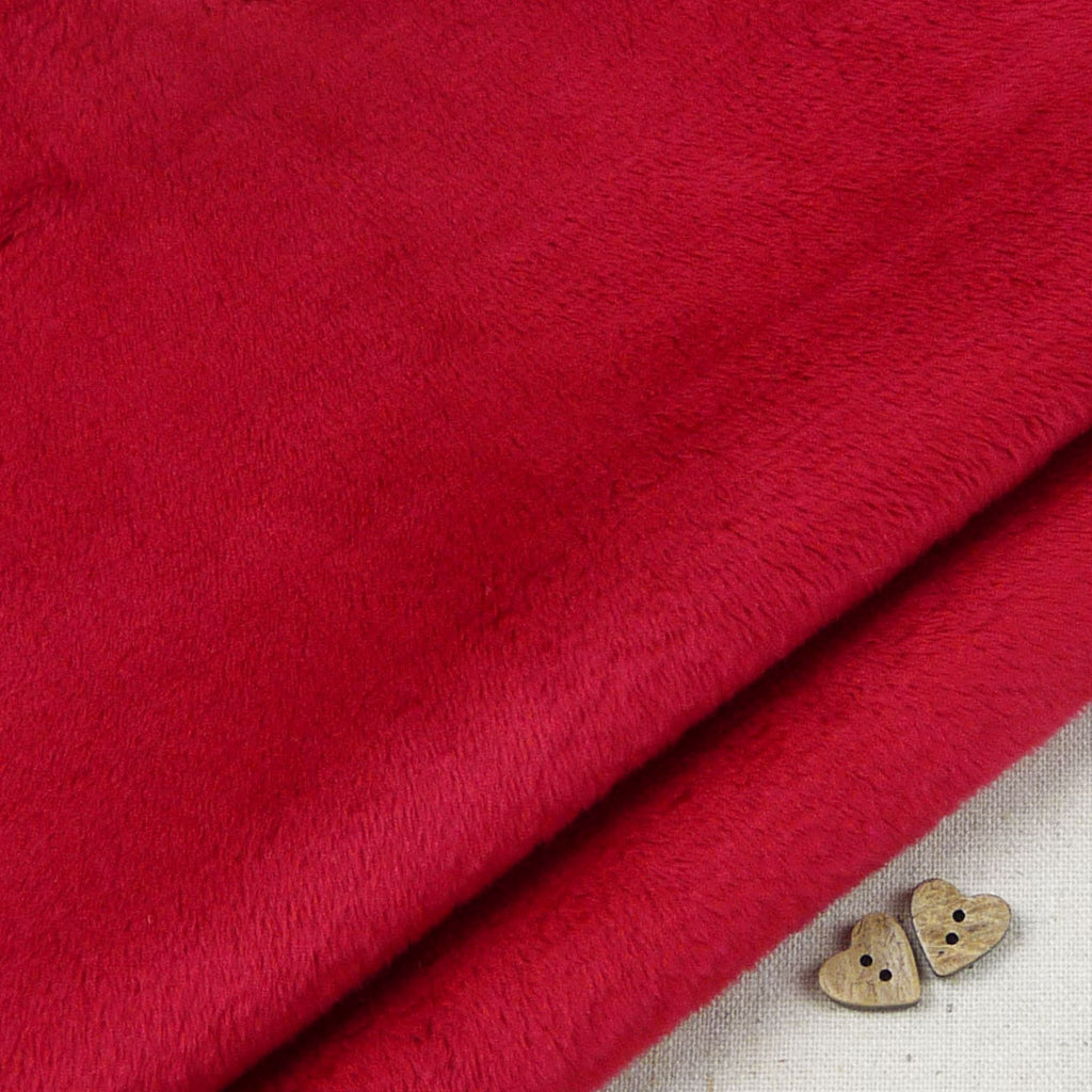 Shannon ~ Smooth Cuddle 3 Crimson - Billow Fabrics  - 1