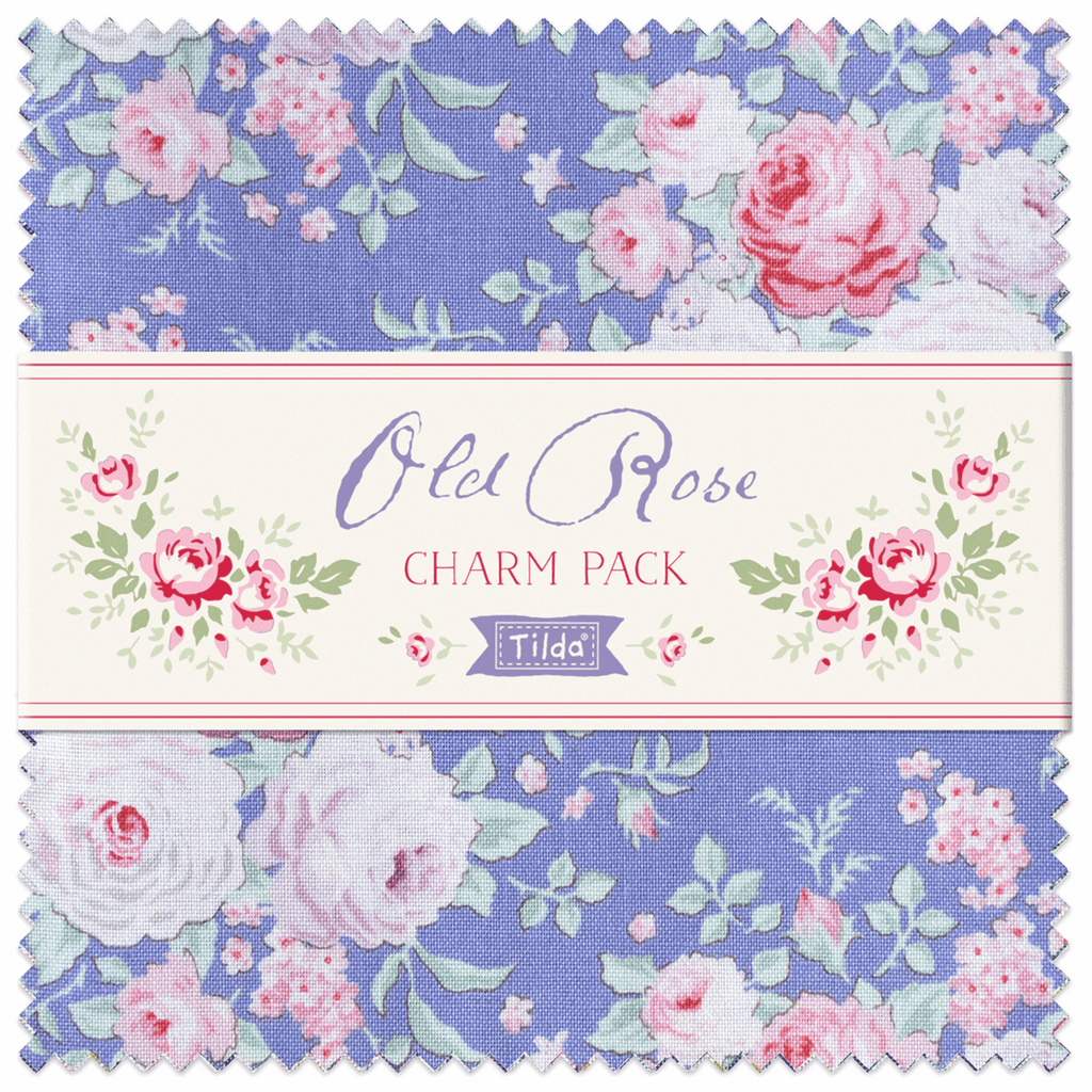 Tilda Fabric Charm Pack ~ Old Rose