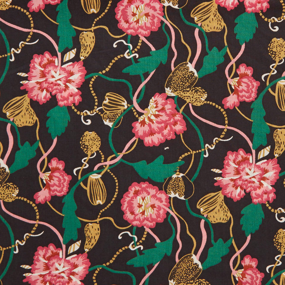 Liberty ~ Trailing Peonies A - Billow Fabrics  - 1