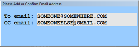 Confirm Email Screen