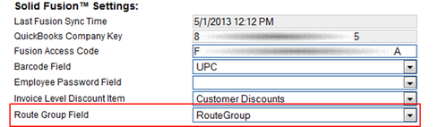 Route Group Custom Field
