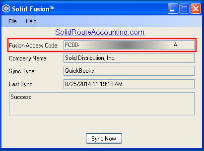 Solid Fusion Access Code