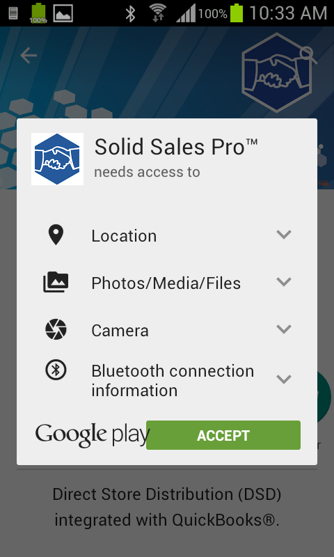 Solid Sales Pro Google Play Permissions