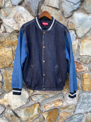 Supreme Denim Varsity Jacket