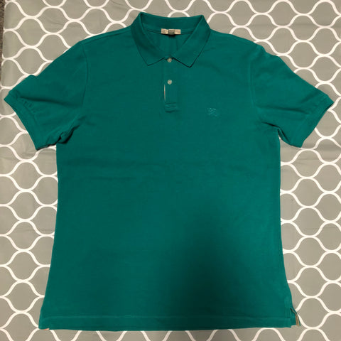 Burberry Green Polo Short Sleeve Shirt