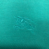 Burberry Teal Polo Short Sleeve Shirt
