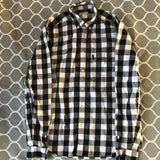 Burberry Black White Checkered Button Up LS Shirt