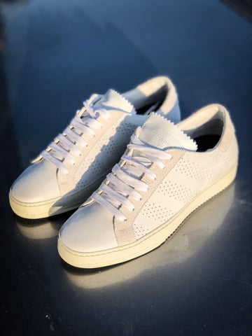 Off White Perforated Low TopSneaker