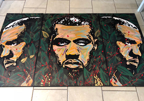 Three Piece Kanye West Painting