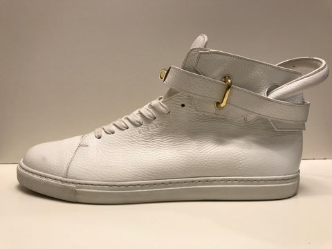 Buscemi Hi Top 100 MM White/Gold