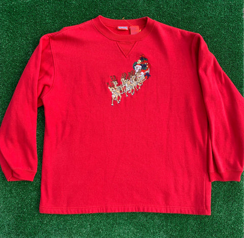 Rudolph Embroidered Vintage Sweater