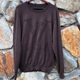 Louis Vuitton Brown LV logo Crew Neck